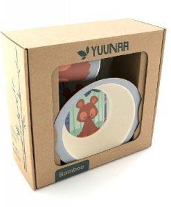 Yuunaa Kids bamboe kinderservies beertje