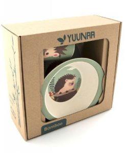 Yuunaa Kids bamboe kinderservies egel verpakking