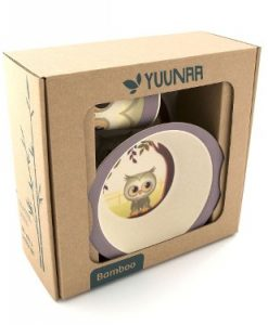 Yuunaa Kids - Bamboe Kinderservies - Uil