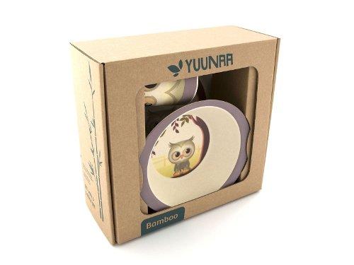 Yuunaa Kids Bamboe Kinderservies Uil