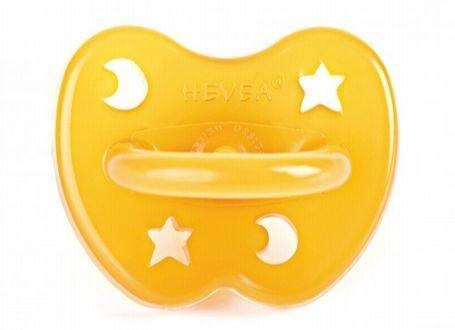 Hevea natuurrubber speen orthodontic 3-36 maanden ster en maan