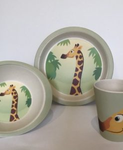 Yuunaa Kids - Bamboe kinderservies - Giraffe