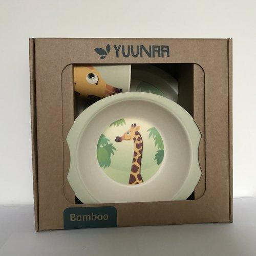 Yuunaa Kids - Bamboe kinderservies - Giraffe verpakking