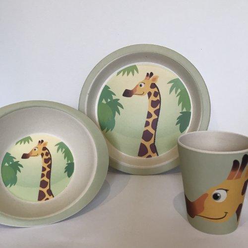 Yuunaa Kids - Bamboe kinderservies - Giraffe
