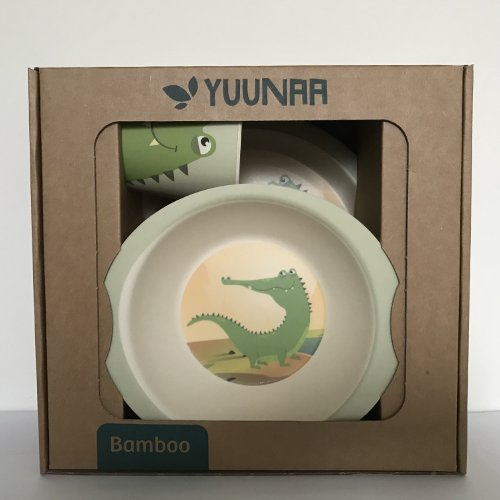 Yuunaa Kids - Bamboe kinderservies - Krokodil verpakking