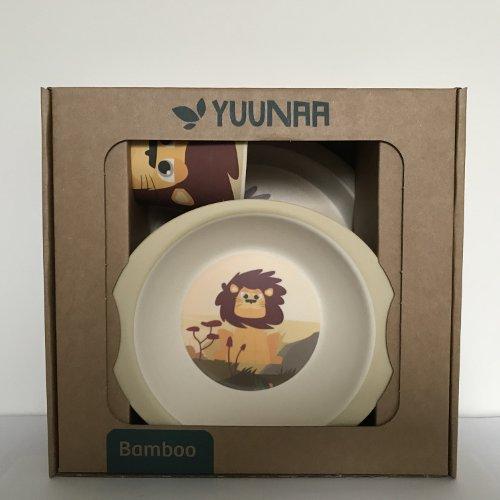 Yuunaa Kids - Bamboe kinderservies - Leeuw verpakking