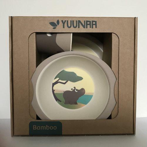 Yuunaa Kids - Bamboe kinderservies - Nijlpaard verpakking