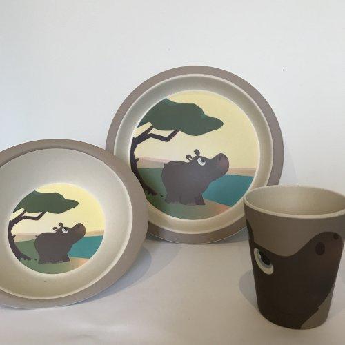 Yuunaa Kids - Bamboe kinderservies - Nijlpaard
