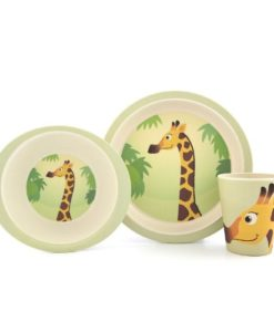 Yuunaa Kids bamboe kinderservies giraffe