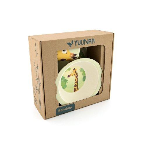 Yuunaa Kids bamboe kinderservies giraffe verpakking
