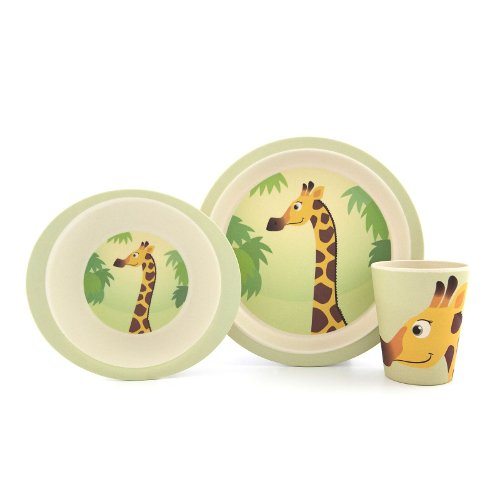 Yuunaa Kids bamboe kinderservies giraffe