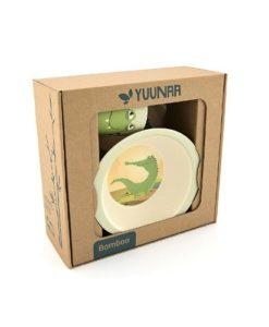 Yuunaa Kids bamboe kinderservies krokodil verpakking