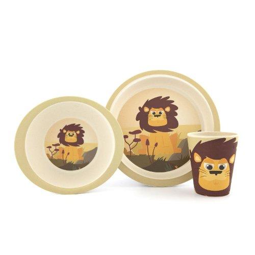 Yuunaa Kids bamboe kinderservies leeuw