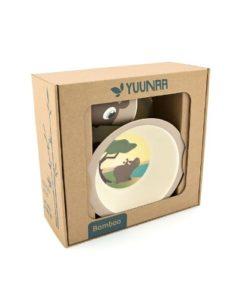 Yuunaa Kids bamboe kinderservies nijlpaard verpakking