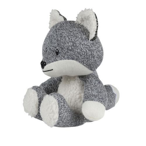 Robin de vos hartslag knuffel grijs zijkant