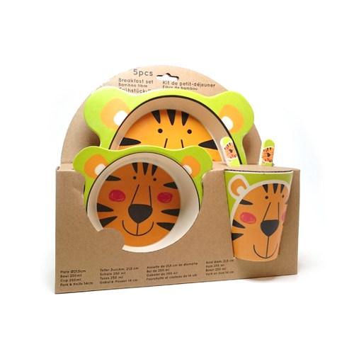 Eco-Import - Bamboe servies tijger verpakking