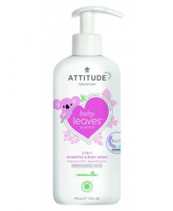 Attitude Baby Leaves 2-in-1 Shampoo en Body Wash parfumvrij