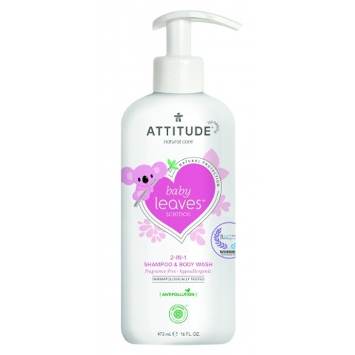 Attitude Baby Leaves 2-in-1 Shampoo en Body Wash parfumvrij
