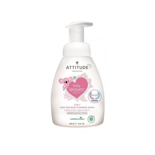 Attitude Baby Leaves 2-in-1 schuimende zeep Parfumvrij