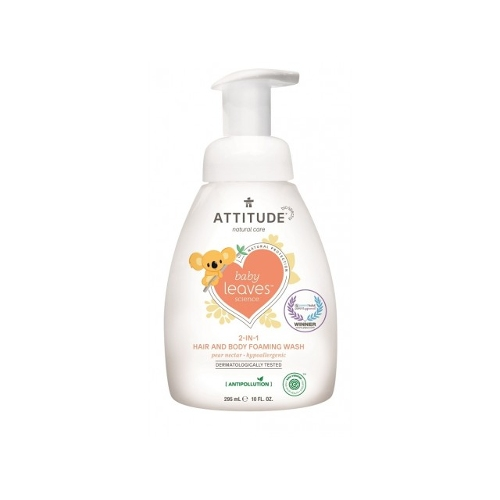 Attitude Baby Leaves 2-in-1 schuimende zeep Peer Nectar