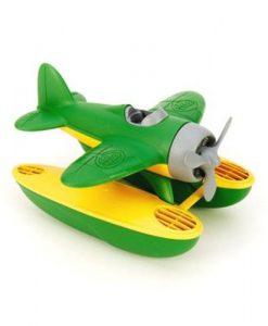 Watervliegtuig met piloot