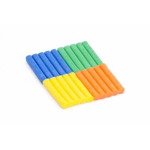 Bijenwas klei groen blauw oranje geel - Les Jouets Libres
