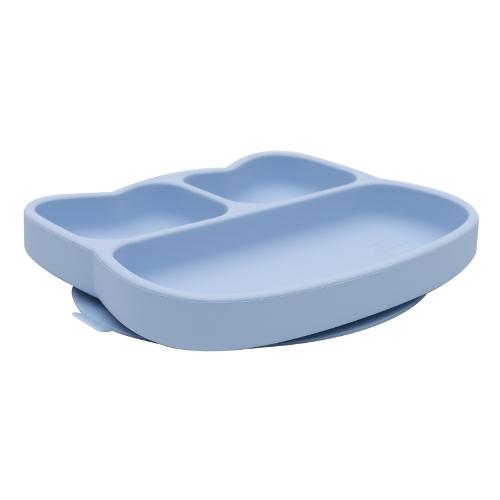 We Might Be Tiny - Stickie Plate Kat Powder Blue zijkant