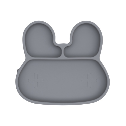 We Might Be Tiny - Stickie Plate Konijn Grey