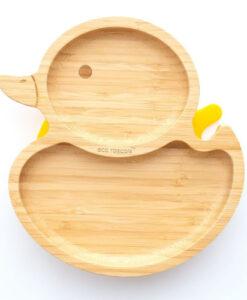 Eco Rascals - Bamboe bord eendje