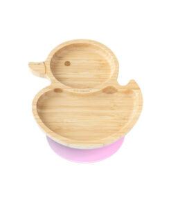 Eco Rascals - Bamboe bord eendje roze