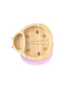 Eco Rascals - Bamboe bord lieveheersbeestje roze