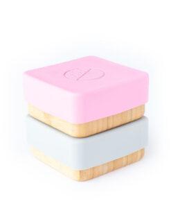 Eco Rascals - Bamboe lunchbox roze en grijs